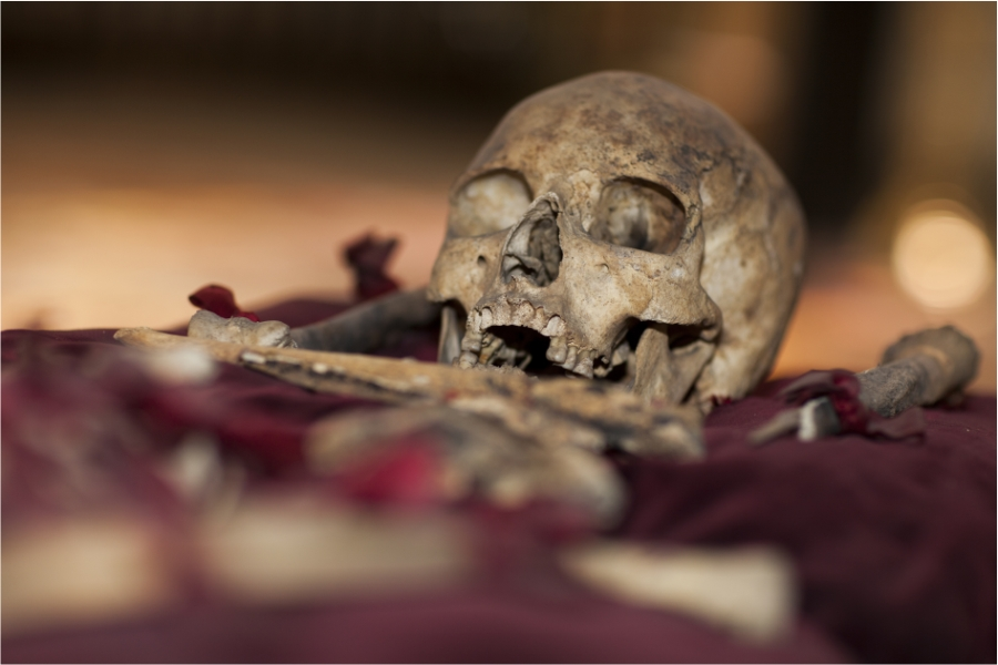 Die Überreste von St. Clari